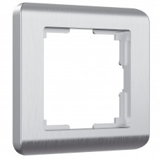 Рамка на 1 пост (серебряный) W0012106