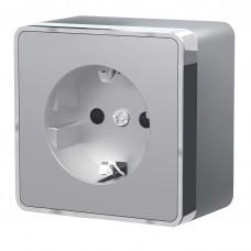 Розетка с заземлением Gallant (серебряный) W5071006 WERKEL
