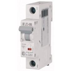 Авт. выключатель HL-C20/1, 1P, 20A, хар-ка C, 4.5kA, 1M