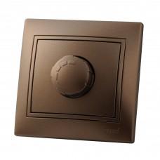 Диммер 800Вт светло-коричневый перламутр со вставкой