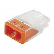 Клемма монтажная 2-проводная STEKKER для 1-жильного проводника, LD2273-202