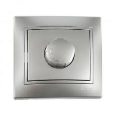Диммер 800Вт метал серый со вставкой