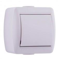 Lezard NATA выключатель 1 кл. белый