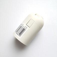 LH109 Патрон E27, 230V, огнеупорный пластик, медь, цвет белый, размер 38*55 мм