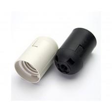 LH109 Патрон E27, 230V, огнеупорный пластик, медь, цвет черный, размер 38*55 мм