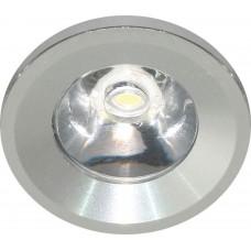 Светодиодный светильник Feron LN770/G770 встраиваемый 1W 6400K серебристый