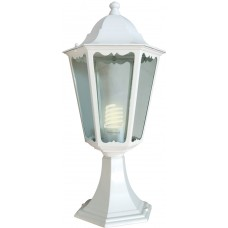 Светильник садово-парковый Feron 6104 шестигранный на постамент 60W E27 230V, белый