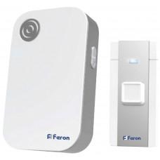 Звонок дверной беспроводной Feron E-372 Электрический 36 мелодий белый серый с питанием от батареек