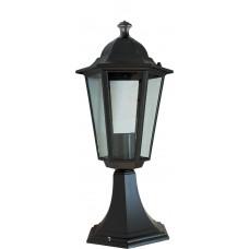 Светильник садово-парковый Feron 6104 шестигранный на постамент 60W E27 230V, черный