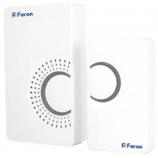 Звонок дверной беспроводной Feron E-373 Электрический 36 мелодий белый серый с питанием от батареек