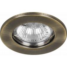 Светильник встраиваемый Feron DL10 потолочный MR16 G5.3 античное золото