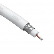 ЭРА Кабель коаксиальный RG-6U, 75 Ом, CCS/(оплётка Al 48%), PVC, цвет белый, бухта 100 м, SIMPLE (6/108)