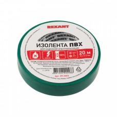 Изолента ПВХ REXANT 15 мм х 20 м, зеленая