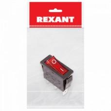 Выключатель клавишный 250V 15А (3с) ON-OFF красный  с подсветкой (RWB-404, SC-791, IRS-101-1C)  REXANT Индивидуальная упаковка 1 шт