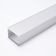 """Профиль алюминиевый накладной """"Линии света"""" с крепежами, серебро, CAB257"""