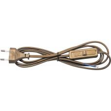 Сетевой шнур с выключателем, 230V 1,9м золото, KF-HK-1