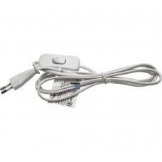 Сетевой шнур (с выключателем) белый, 2м, DM107