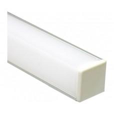Профиль алюминиевый угловой квадратный, серебро, CAB281 Feron