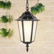 Уличный подвесной светильник IP44 GL 1004H черное золото Elektrostandard