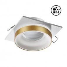 370787 SPOT NT21 246 белый/золото Светильник встраиваемый влагозащищенный GU10 9W 220V WATER
