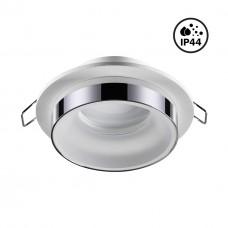 370782 SPOT NT21 246 белый/хром Светильник встраиваемый влагозащищенный IP44 GU10 9W 220V WATER