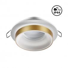 370783 SPOT NT21 246 белый/золото Светильник встраиваемый влагозащищенный IP44 GU10 9W 220V WATER