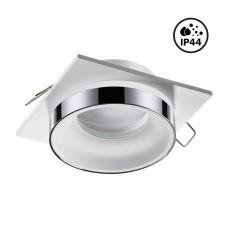 370786 SPOT NT21 246 белый/хром Светильник встраиваемый влагозащищенный IP44 GU10 9W 220V WATER